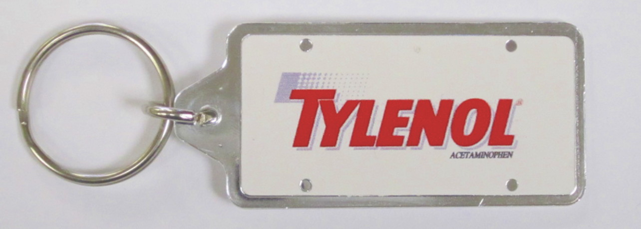 Printed License Plate Key Ring